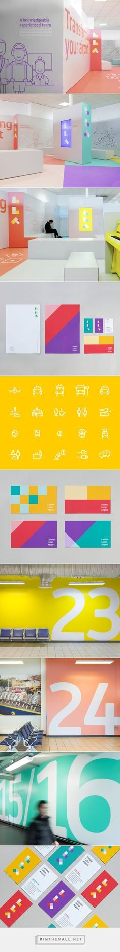 London Luton Airport Branding by Ico Design - stationery and matching wall…