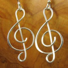 Musical Dangles EarringsTreble Clefs in by TwiningVineDesigns