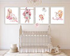 4 ballerina bunny rabbit baby girl nursery wall art print et Nursery Layout, Baby Girl Nursery Decor, Nursery Wall Art, Nursery Rugs, Baby Bedroom, Nursery Ideas, Bedroom Ideas, Bunny Nursery, Yellow Nursery