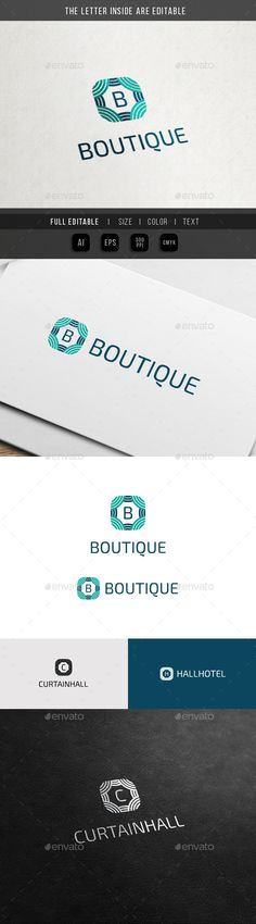 Boutique Vintage - Curtain Hall - Fashion Logo Template #design #logo Download: http://graphicriver.net/item/boutique-vintage-curtain-hall-fashion-logo/11499850?ref=ksioks