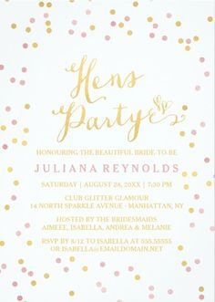 Love these hen party invites