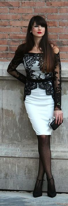 #Lace, #White And #Black by Angeles y Diablillos