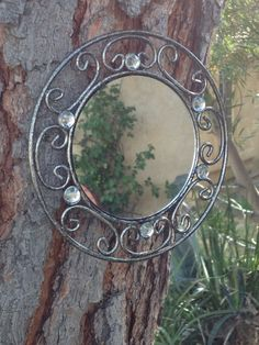 Wrought iron mirrors set of two black and by ShabbyChicCaliFinds, $25.00