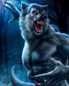 Werewolf Large Art Tile - Art Tile, Tom Wood Collection, Nemesis Now