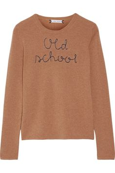 LINGUA FRANCA Old School embroidered cashmere sweater€400