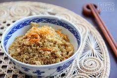 Quinoa estilo chino # ¡Cómo nos gusta laquinoa! Para los que no la conozcáis mucho todavía, os dejo este artículo que escribimos hace tiempo en el que os contamos qué es la quinoa y cuáles son sus estupendas propiedades …