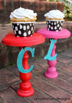Create these adorable Personalized Cupcake Stands! What a great way to celebrate a special event!