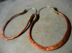 Big Oval Hoop Earrings gypsy ethnic hip mixed by SilviasCreations, $39.00