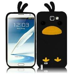 INSTEN For Samsung Galaxy S Note 2 N7100(AT & T) Funny Silicone Skin Cover - Black