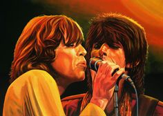 rolling stones art | The Rolling Stones Painting