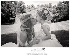 The Bride and Her Flower Girl Under the Veil | Barn Wedding Photos | St Louis Wedding Photos at Faust Park | Orlando Garden Reception #countrywedding #barnwedding http://forthemomentphoto.wordpress.com/2013/06/28/st-louis-faust-park-wedding-photography-courtney-ian-orlando-gardens-reception/