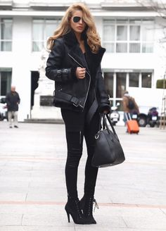 Shearling Biker Jacket  Shearling Biker Jacket - Maniere De Voir (Here)V Neck Ribbed Top - Topshop (Here)Cargo Trousers - Maniere De Voir (Here)Lace Up Boots / Similar River Island (Here)Sunglasses - Asos (Here)Marble Phone Case - Madotta / Similar (Here)  Fashion By Nada Adelle