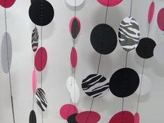 Zebra print bright pink/melon mambo black and by ChristysCardShop, $10.00