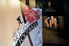 Origins of Football, exhibition design/communication by Daniela Rota, via Behance