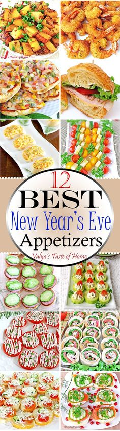 In today's New Year's Eve Appetizers post you will find a variety of different Appetizer recipes pieced together to help ease your New Year's Eve prep anxiety. All of these appetizers are quick and easy to make and satisfy almost every late-night snacker.