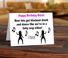 Funny adult birthday card 21 year old birthday card put you on funny adult birthday card 21 year old birthday card birthday card nae nae watch me happy birthday bitch printed card by pixelpreppers on etsy bookmarktalkfo Choice Image