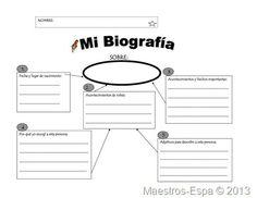 Recursos para maestros de español: Organizador para escribir una biografía