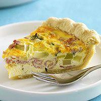 Broccoli & Ham Quiche Recipe