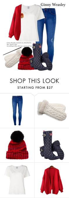 """""""Winter Edition: Ginny Weasley"""" by harry-potter-girl ❤ liked on Polyvore featuring Dorothy Perkins, UGG Australia, Eugenia Kim, Joules, Visvim and Chicnova Fashion"""
