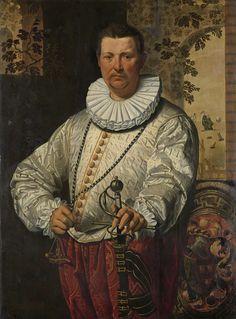 Portrait of a Dutch Admiral of the Fleet, circle of Pieter Pietersz. (I), 1570 - 1610