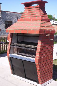 parrilla plans help (question) - Forno Bravo Forum: The Wood-Fired Oven Community Smokehouse Grill, Bbq Grill, Backyard Kitchen, Fire Pit Backyard, Parrilla Exterior, Brick Bbq, Fake Fireplace, Outdoor Oven, Wood Fired Oven