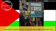 Demo Anti Zionist Israel di Oxford, London.