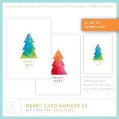 Free 3 x 4 Card Down