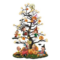 The Bradford Exchange Peanuts It's The Great Pumpkin Illuminated Halloween Tabletop Tree with Lights Halloween Trees, Halloween Ornaments, Halloween Town, Holidays Halloween, Halloween Pumpkins, Halloween Decorations, Christmas Ornaments, Charlie Brown Halloween, It's The Great Pumpkin