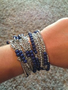 True Blue necklace as a bracelet? Why yes, I think I will! #PremierDesigns