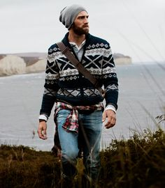 There is something extremely attractive about this man. Not sure if it has something to do with the sweater or the beard or his outdoorsy-ness. :)