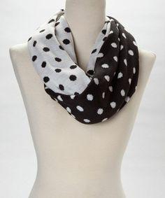 Cruelle de Ville polka dot infinity scarf