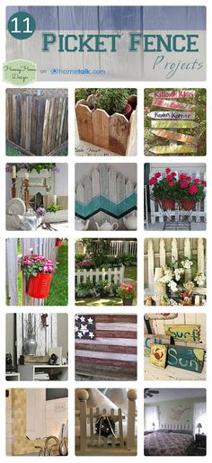11 {Picket Fence} Projects | curated by 'Homey Home Design' blog!