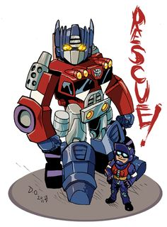 Rescuebots Optimus Prime by weremole.deviantart.com on @deviantART