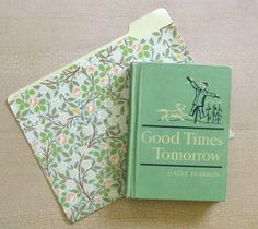 Turn a vintage book and a pretty printed file folder into a cover for your planner. You could cover your own file folder with fabric to customize it ... Vintage Book Planner Tutorial | Just Something I Made
