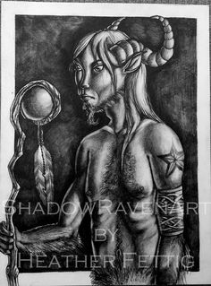 SALE Wise One original drawing SALE 25 OFF by TwoBlueRavens, $75.00