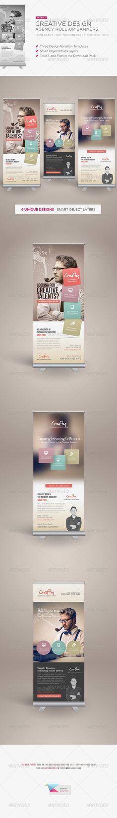 Really cool roll-up banners design