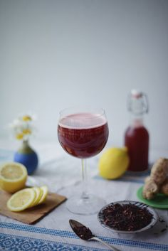 Hibiscus Lemon Ginger Water Kefir