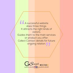 Three things for Successful website Web Design Quotes, Success, Graphic Design, Website, Visual Communication