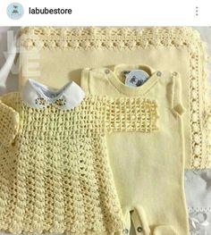 Lindo conjunto de roupinhas e manta para bebê.
