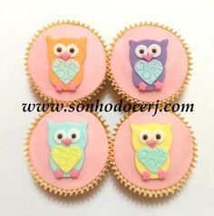 Cupcakes Corujinhas! curta nossa página no Facebook: www.facebook.com/sonhodocerj