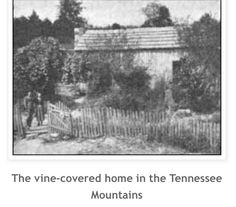 Alvin Cullum York was born third of his eleven siblings in this two room cabin