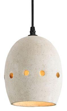 Concrete kitchen pendant light