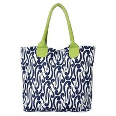 05dd0f9883b0 I adore a pop of lime with navy. Cotton Tote Bags