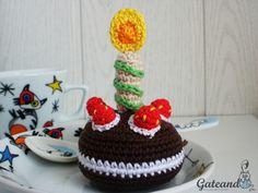 Amigurumi Birthday Cake mini Crochet Pinterest Amigurumi