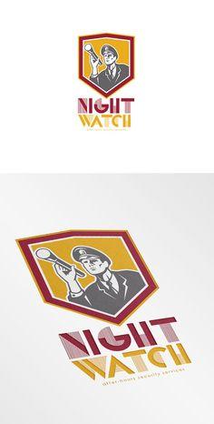 Night Watch Security Services Logo by patrimonio on Creative Market