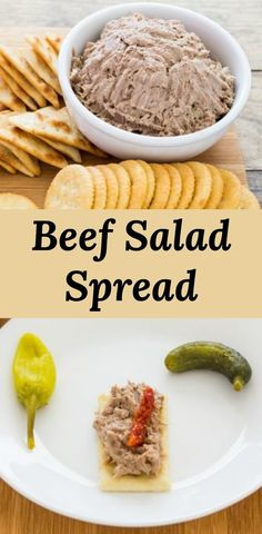 Leftover roast beef becomes a delicious cracker spread or sandwich filling. Leftover roast beef becomes a delicious cracker spread or sandwich filling. Sandwich Bar, Tea Sandwiches, Beef Salad Sandwiches, Salat Sandwich, Sandwich Fillings, Finger Sandwiches, Sandwich Ideas, Beef Sandwich Spread Recipe, Sandwich Recipes