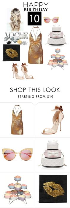 """""""Celebrate Our 10th Polyversary!"""" by farahaly ❤ liked on Polyvore featuring Sophia Webster, Fendi, Kate Spade, Sweetly Does it, iCanvas, polyversary and contestentry"""