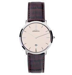 2016 Newer stely genuine leather watch 30 water resistant watch quartz movt watch Gentlemans Club, Bracelet Cuir, Michel, Beige, Eyewear, Watches For Men, Quartz, Stainless Steel, Accessories