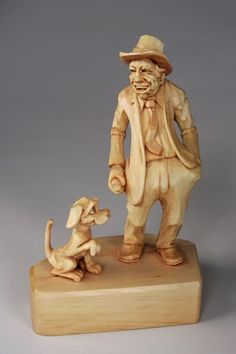 Dave Stetson...carved from wood, so cute:):)