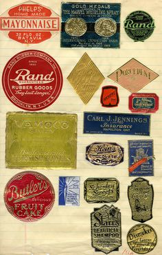Steven Heller's Daily Heller featuring a splendid collection of foil stamped labels.